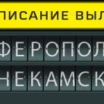 Расписание вылетов аэропорт Симферополь - Нижнекамск